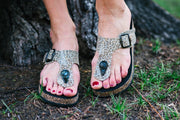 Zoe Thong Sandal in Mini Leopard | CoFi Leathers | Fruit of the Vine Boutique