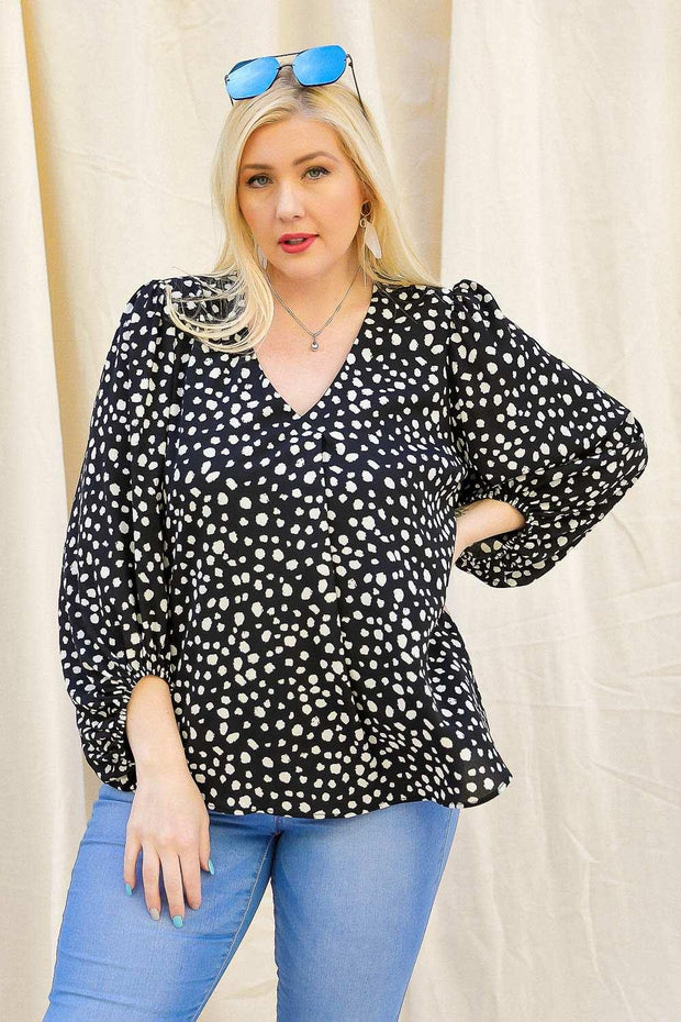 Spring Dots Blouse | Fruit of the Vine Boutique