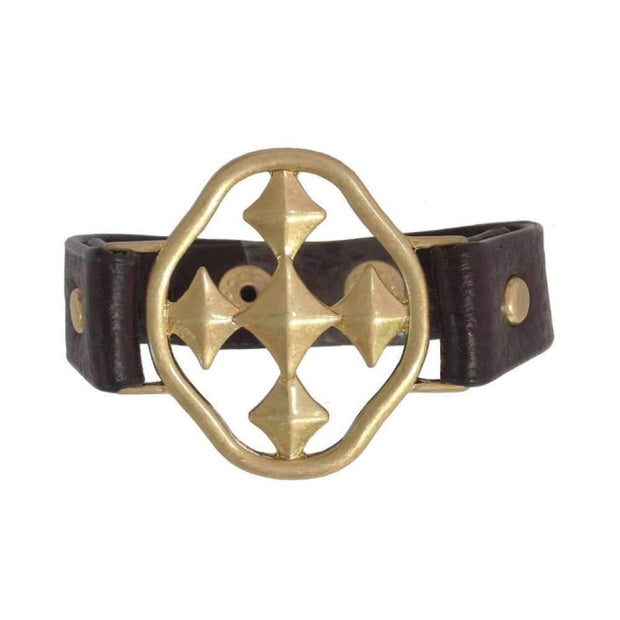 Signature Shield of Faith Leather Bracelets