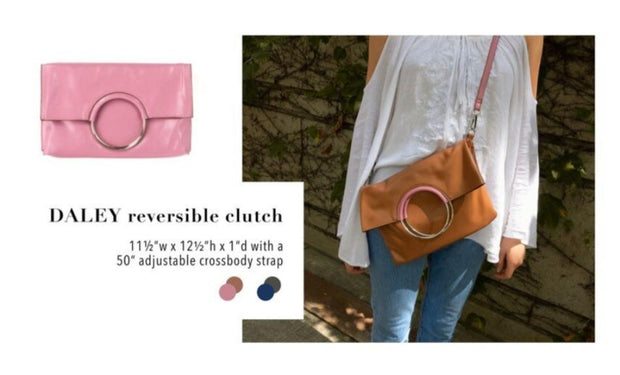 Daley Reversible Clutch - Fruit of the Vine