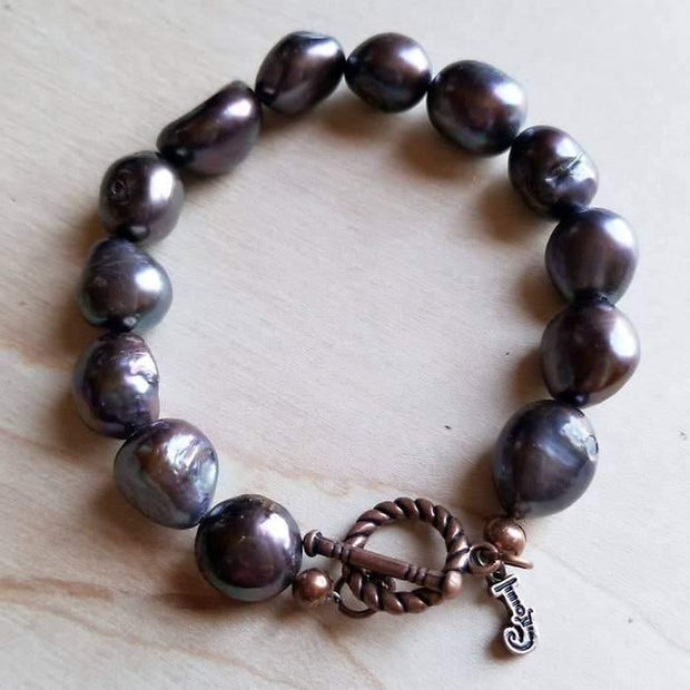 Gray Freshwater Pearl Bracelet | Fruit of the Vine Boutique