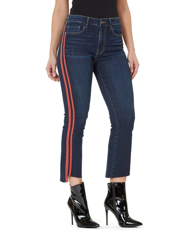 Numero Brand - Chelsea High Rise Slim Flare Crop - Fruit of the Vine