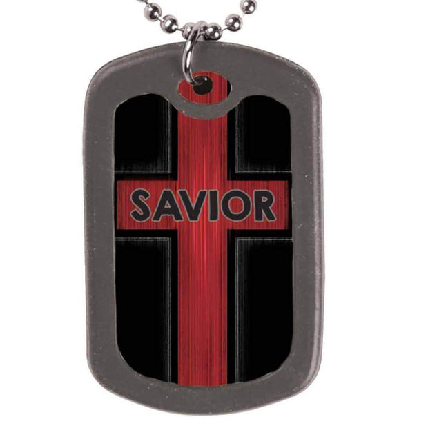 Savior John 10:10 Dog Tag Necklace - Fruit of the Vine