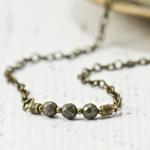 Fire Pyrite Necklace