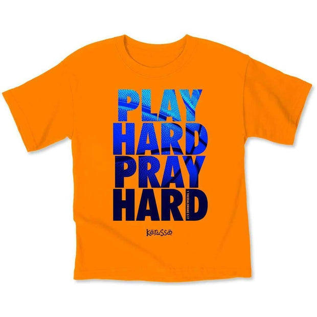 Play Hard Pray Hard Kids Tee