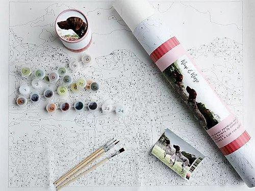 Remi and Reese | Pink Picasso Paint by Numbers Kit | Fruit of the Vine Boutique