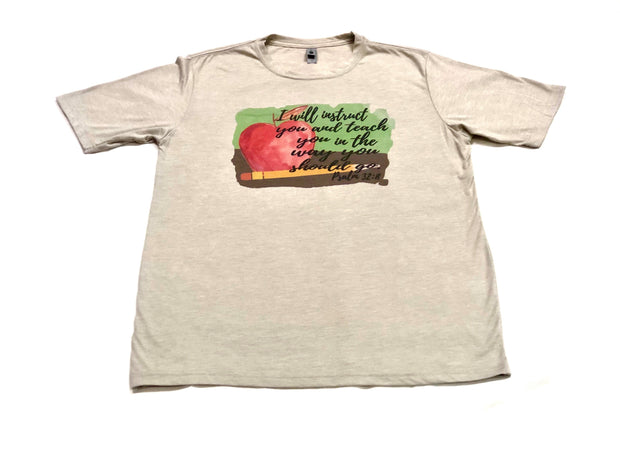 Instruct and Teach Psalm 32:8 Tee - Fruit of the Vine