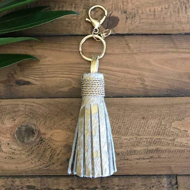Hair On Hide Classic Tassel Keychains | Fruit of the Vine Boutique