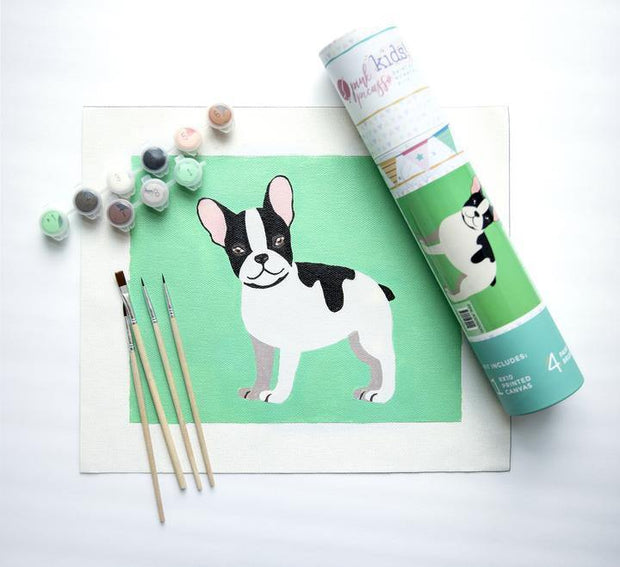 Frenchie French Kit for Kids | Pink Picasso Paint by Numbers Kits | Fruit of the Vine Boutique