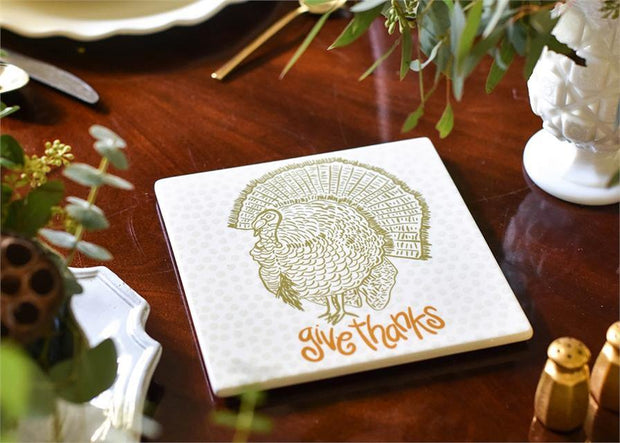 Give Thanks Turkey Trivet | Fruit of the Vine Boutique