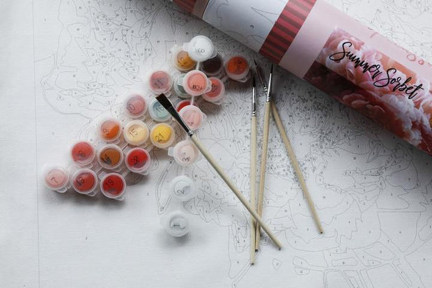 Summer Sorbet | Pink Picasso Paint by Numbers Kit | Fruit of the Vine Boutique