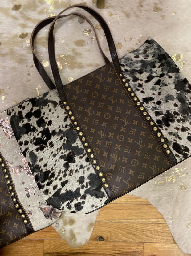 Repurposed LV Tote in Calico