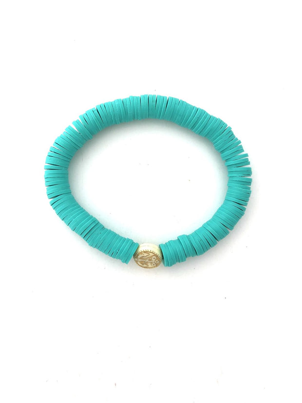 Anchor Beads Turquoise Stacking Bracelet - Fruit of the Vine