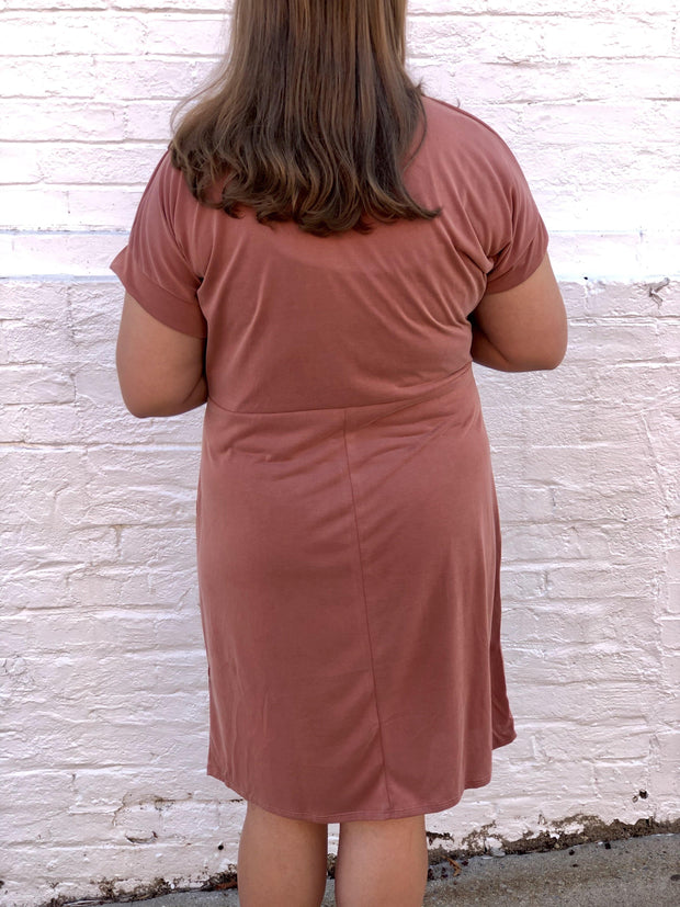 Cooper Knot Dress (Curvy) | Fruit of the Vine Boutique