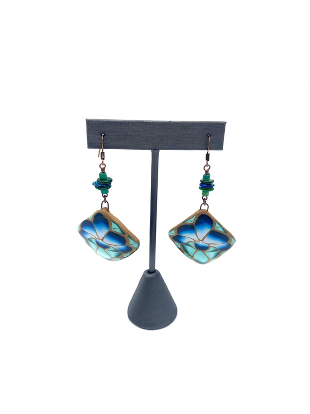 Sea Dangle Earrings by Kim Hudson Shumate - Fruit of the Vine