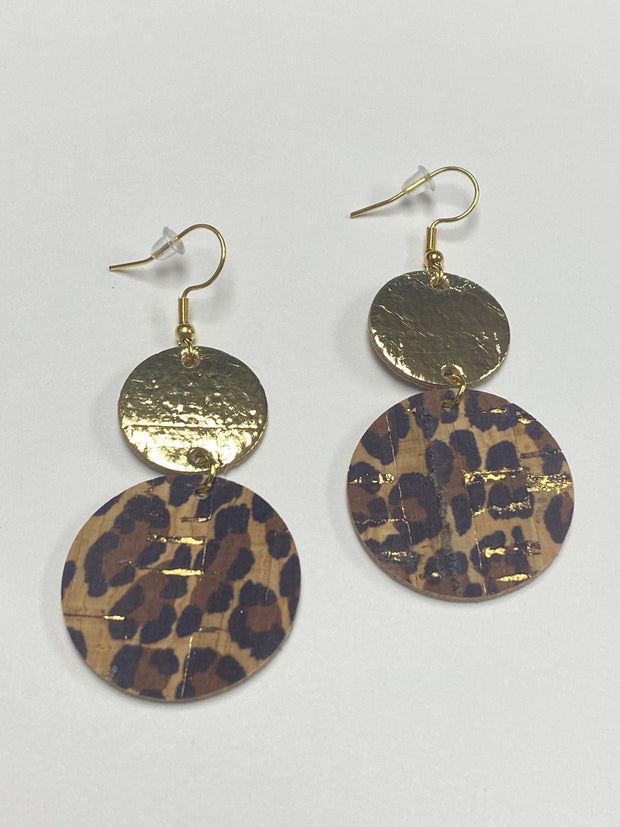 Metallic Gold and Leopard Corkies | Fruit of the Vine Boutique