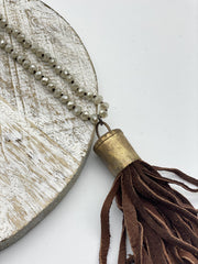 Handmade Leather Tassel Necklaces