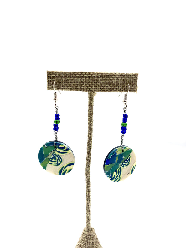 Abstract Disc Earrings by Kim Hudson Shumate - Fruit of the Vine