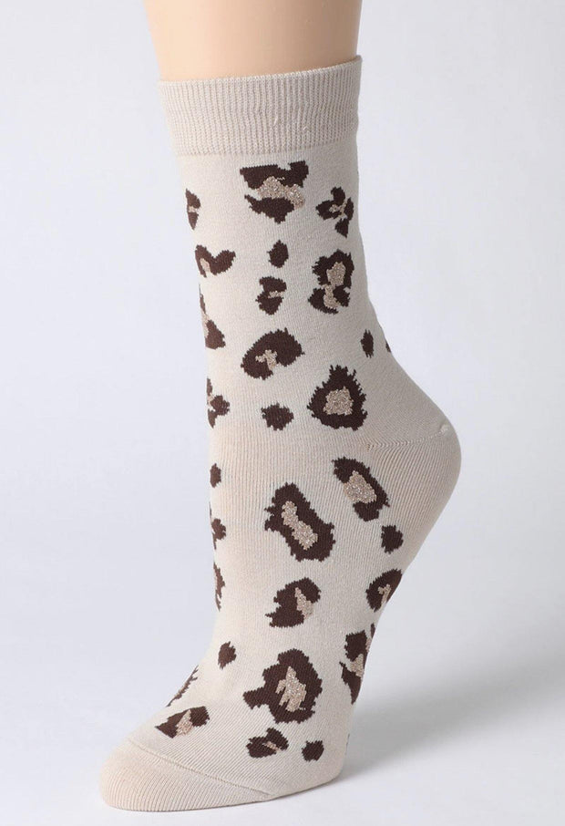Leopard Cotton Blend Socks