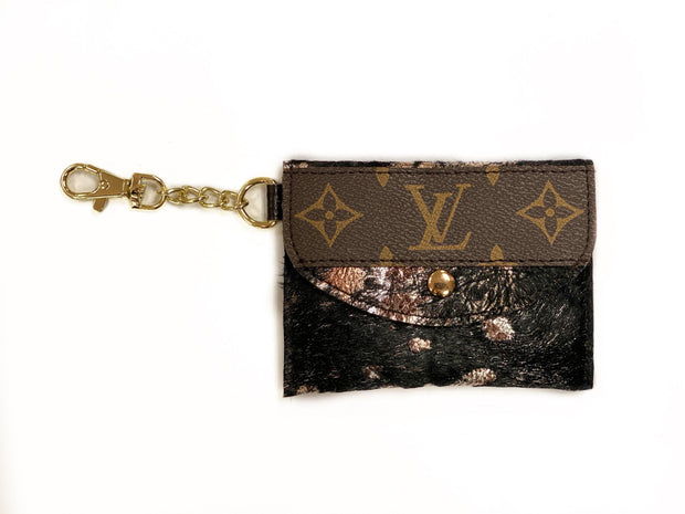 Repurposed LV Card Holder Keychains