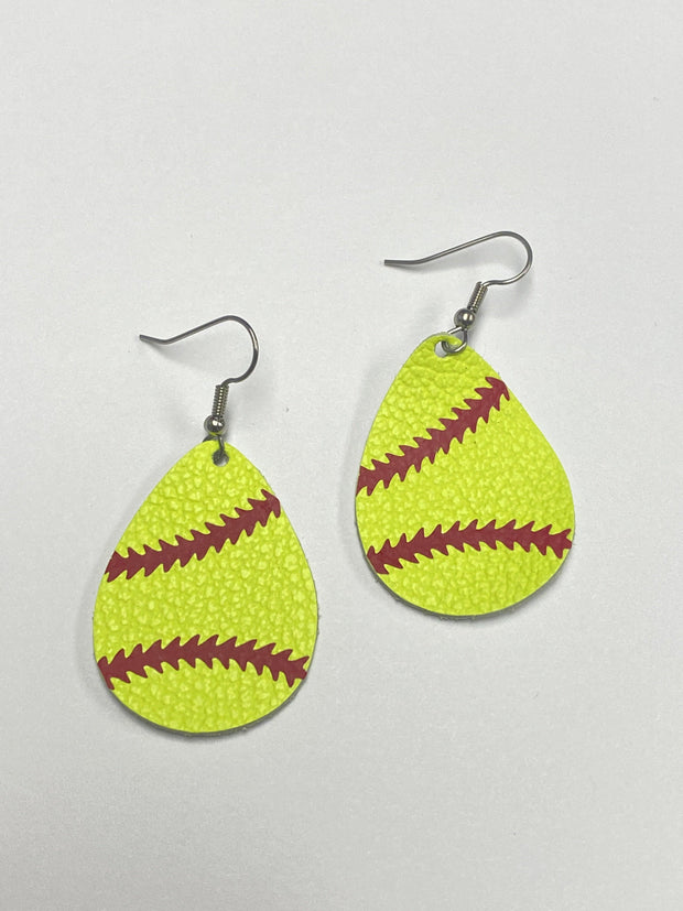 Softball Itty Bitty Earrings | Fruit of the Vine Boutique