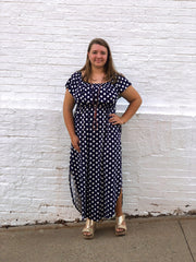 Clara Polka Dot Maxi Dress (Curvy)