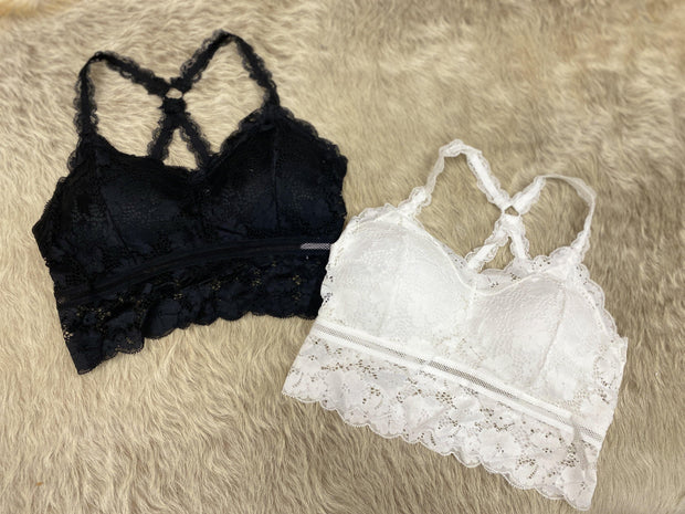 Criss-Cross Lace Bralettes