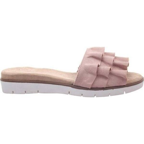 Eris Blush Pink Ruffle Slides - Fruit of the Vine
