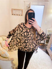 Veronica Sheer Leopard Blouse