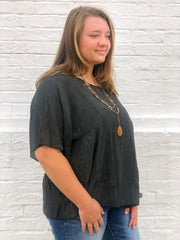 Reese Pleated Top (Curvy)