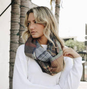 Multicolor Plaid Infinity Scarf