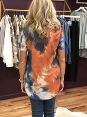 Willa Tie Dye Waffle Knit Top - Fruit of the Vine