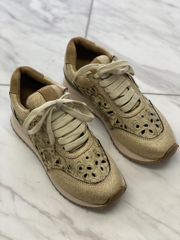 Gold Sneakers | Fruit of the Vine Boutique