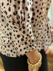 Dotty Dalmatian Balloon Sleeve Blouse