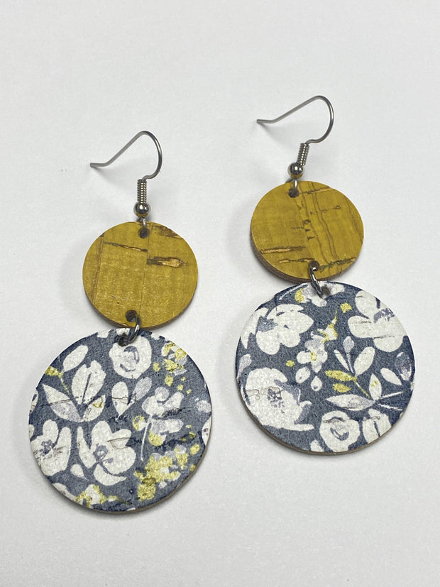 Yellow and Navy Floral Corkies