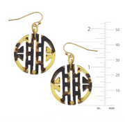 Round Tortoise Bamboo Earrings | Susan Shaw