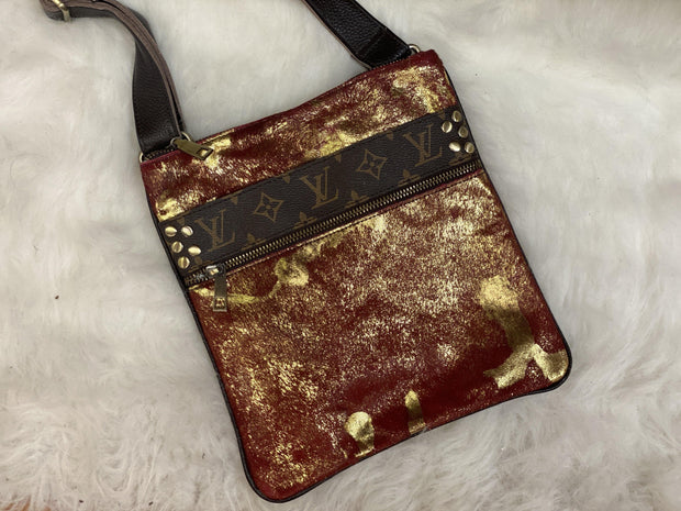 Repurposed LV Messenger Bags