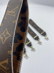 Repurposed LV Wristlet Keychains