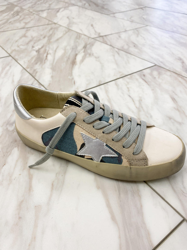 Paula Blue Camo Sneakers | Fruit of the Vine Boutique