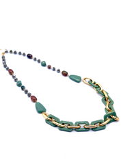 Green Link Necklace | Fruit of the Vine Boutique