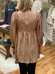 Avery Puffed Sleeve Blouse (S-2X)