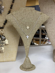 Dainty Cross Charm Necklaces