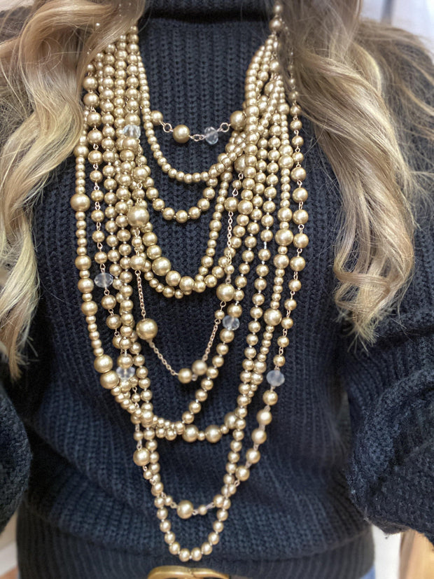 Pearl and Crystal Necklace | Fruit of the Vine Boutique