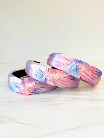 Tie Dye Knotted Velvet Headband - Fruit of the Vine