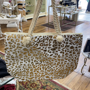 Metallic Leopard Tote Bag | Fruit of the Vine Boutique