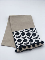 Oatmeal Linen Guest Towels - Fruit of the Vine