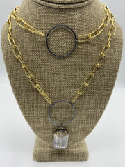 Gold and Gunmetal Necklaces