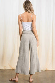 Brushed Knit Wide Leg Pants