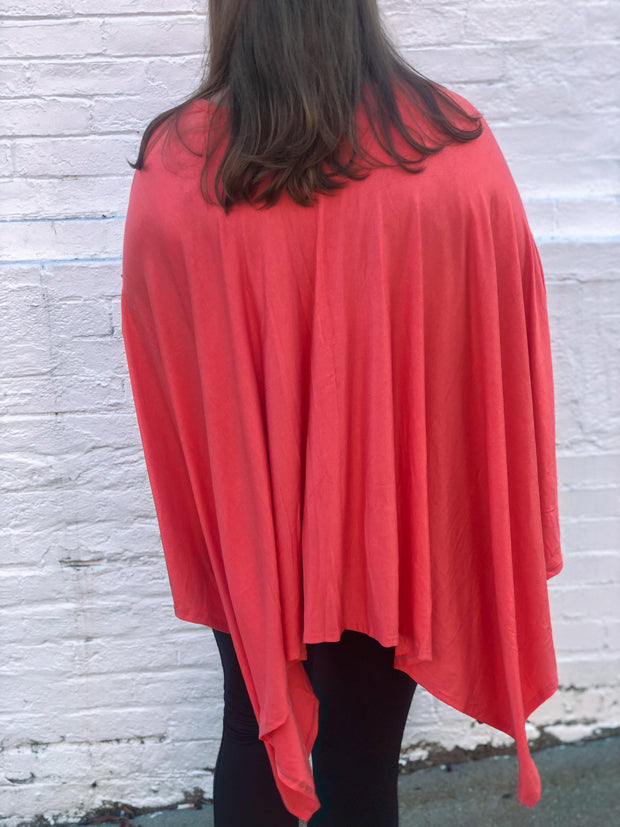 Stay Awhile Poncho Top (Curvy)