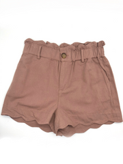 Mara Paperbag Shorts in Mauve - Fruit of the Vine
